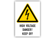 Warnschilder mit Texten in englischer Sprache Warnschilder - High Voltage Danger! Keep Off Typ2