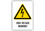 Warnschilder mit Texten in englischer Sprache Warnschilder - High Voltage Warning!